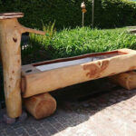 Holzbrunnen aus Lärche