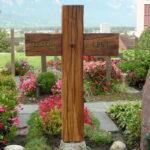 Grabkreuz aus Eiche