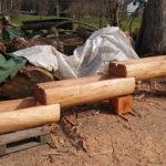 Holzbrunnen drei-teilig Lärche