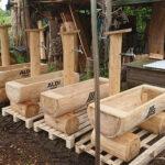 Holzbrunnen für Aldi
