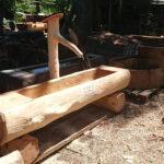 Holzbrunnen aus Lärchenholz