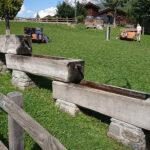 Holzbrunnen mehrstufig