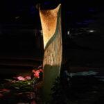 Lichtsäule aus Weidenholz