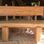 Ruhebank aus Holz
